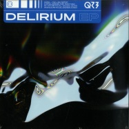 Front View : QZB - DELERIUM EP (BLUE VINYL + MP3) - Critical Music / CRIT130