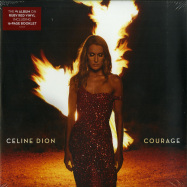 Front View : Celine Dion - COURAGE (RED 2LP) - Sony / 19075952481