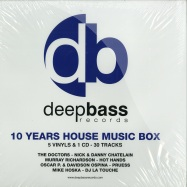 Front View : Various Artists - 10 YEARS HOUSE MUSIC BOX (5X12 INCH + CD) - Deep Bass Records / DBRBOX002