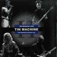 Front View : David Bowie & Tin Machine - NO MIRACLE JIVE (BLUE LP) - Roxborough / ROXMB027-C