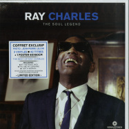 Front View : Ray Charles - THE SOUL LEGEND BOX (3LP BOX + POSTER) - Wagram / 3369306 / 05179701