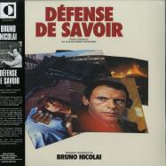 Front View : Bruno Nicolai - DEFENSE DE SAVOIR (LP) - Transversales Disques / TRS13