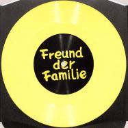 Front View : Freund Der Familie - ALFA REMIXES 03.1 (7 INCH, YELLOW COLOURED VINYL) - Freund der Familie / FDFALFA03.1