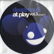 Front View : Deadmau5 - At Play 3 - Sampler EP 1 (PICTURE DISC) - Play Records / Play12014