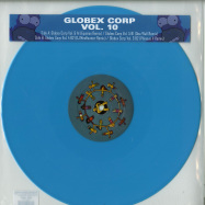Front View : Tim Reaper & Dwarde Present - GLOBEX CORP VOLUME 10 - THE REMIXES (BLUE COLOURED VINYL) - 7th Storey Projects / 7THGLOBEX010