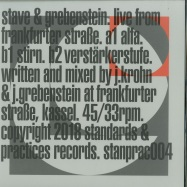 Front View : Stave & Grebenstein - LIVE FROM FRANKFURTER STRASSE (LTD WHITE VINYL) - Standards & Practices / STANPRAC004LTD