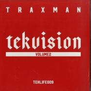 Front View : Traxman - TEKVISION VOL. 2 (LP) - Teklife / Teklife009 / 00135454