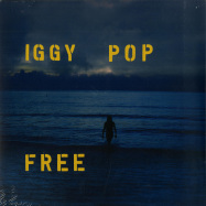 Front View : Iggy Pop - FREE (BLUE LP) - Caroline / CAROL019LPC / 7794354
