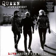 Front View : Queen & Adam Lambert - LIVE AROUND THE WORLD (2LP) - Virgin / 0745465