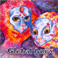 Front View : Various Artists - 10 YEARS OF GLOBAL AURA (PURPLE MARBLED VINYL) - Global Aura Records / GLOBAL005