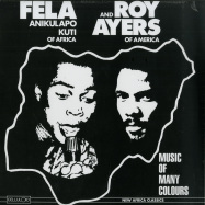 Front View : Fela Kuti & Roy Ayers - MUSIC OF MANY COLOURS (LP + MP3) - Kalakuta Sunrise / KFR1143-1