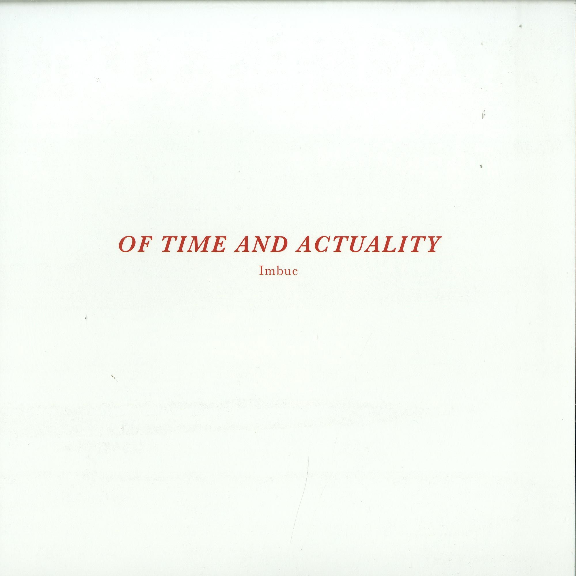 Imbue - OF TIME AND ACTUALITY