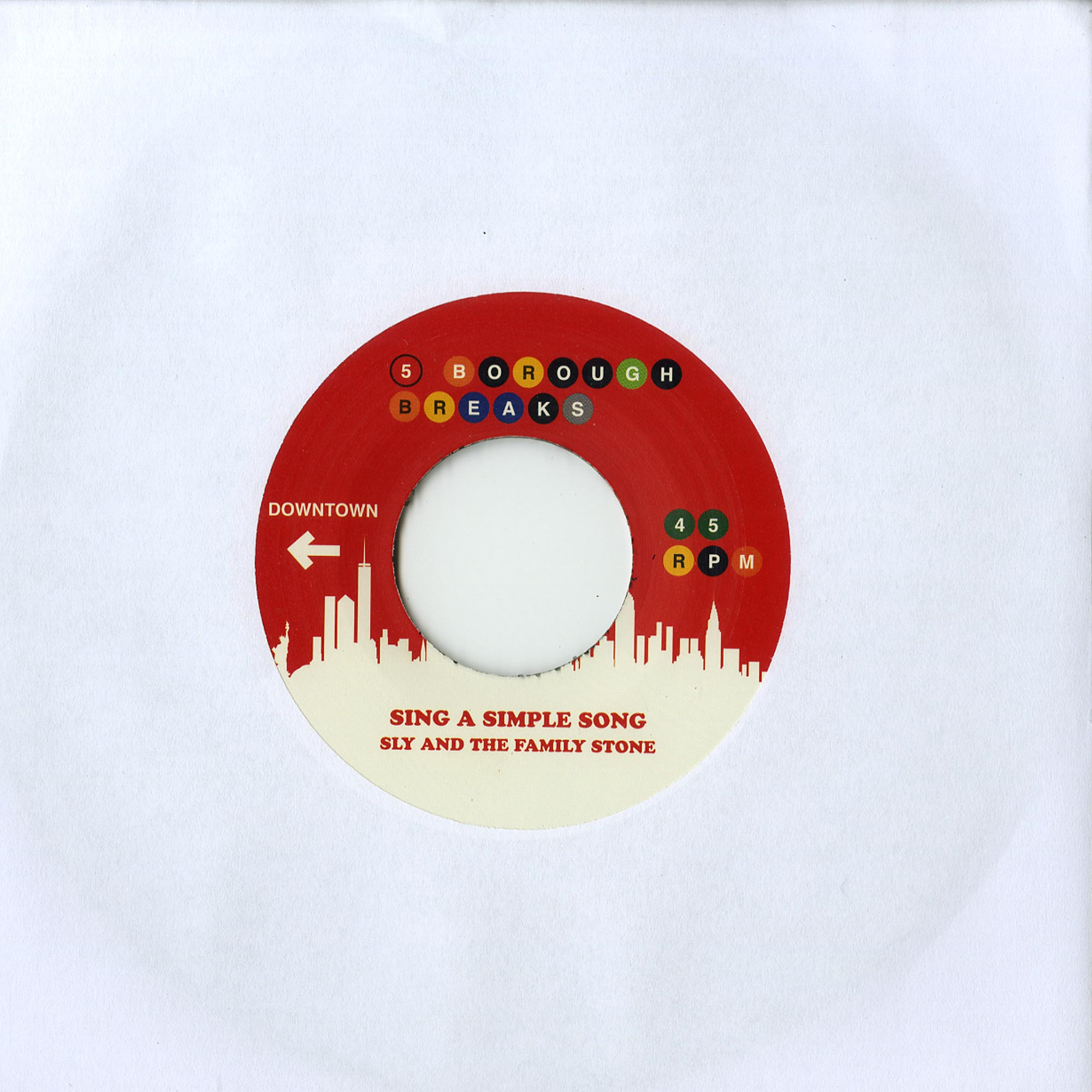 KRS One / Sly & The Family Stone - SOUND OF DA POLICE / SING A SIMPLE SONG