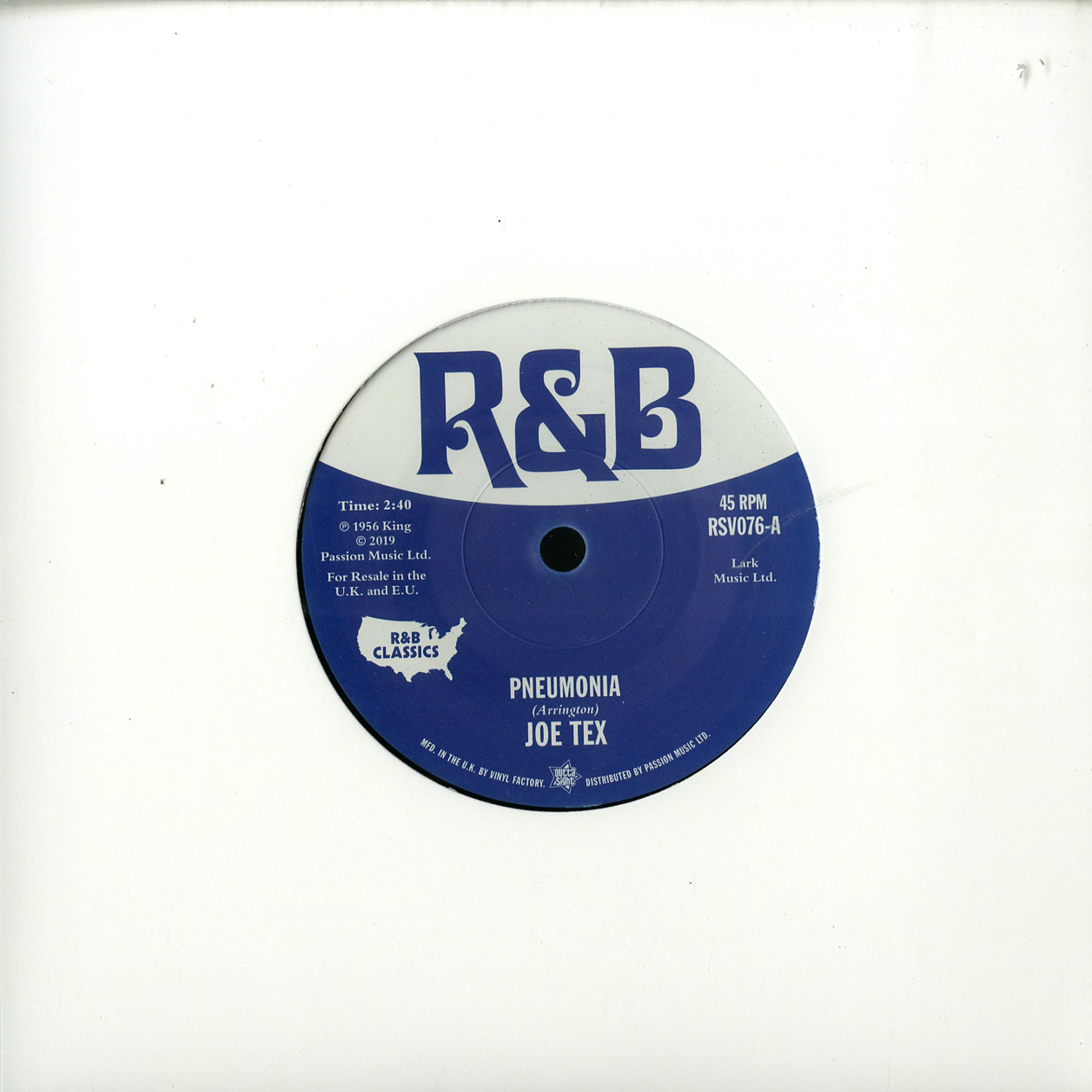 Joe Tex / Little Willie John - PNEUMONIA / FEVER