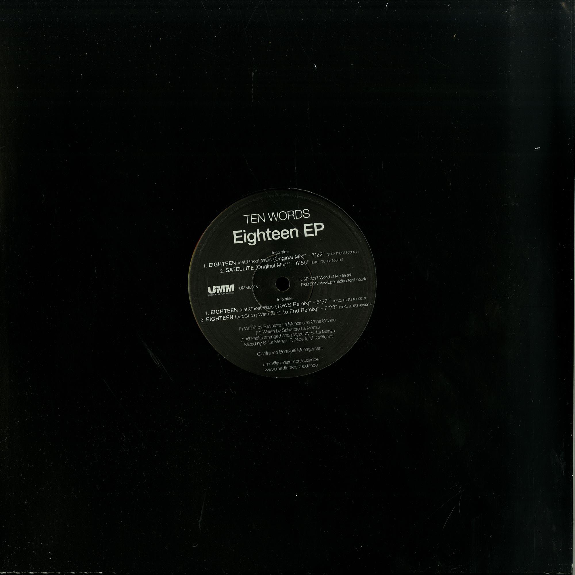 Ten Words - EIGHTEEN EP