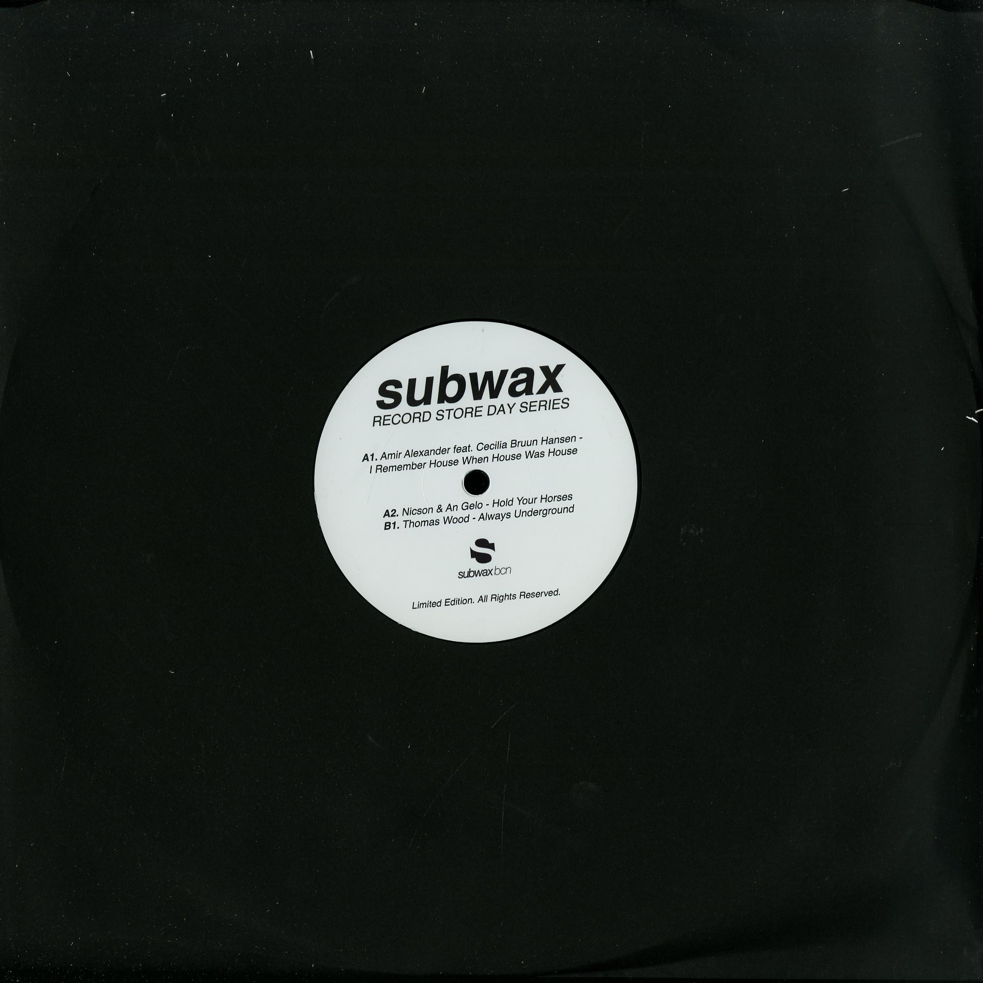 Amir Alexander / Thomas Wood / Nicson & An Gelo - SUBWAX RECORD STORE DAY SERIES 2015