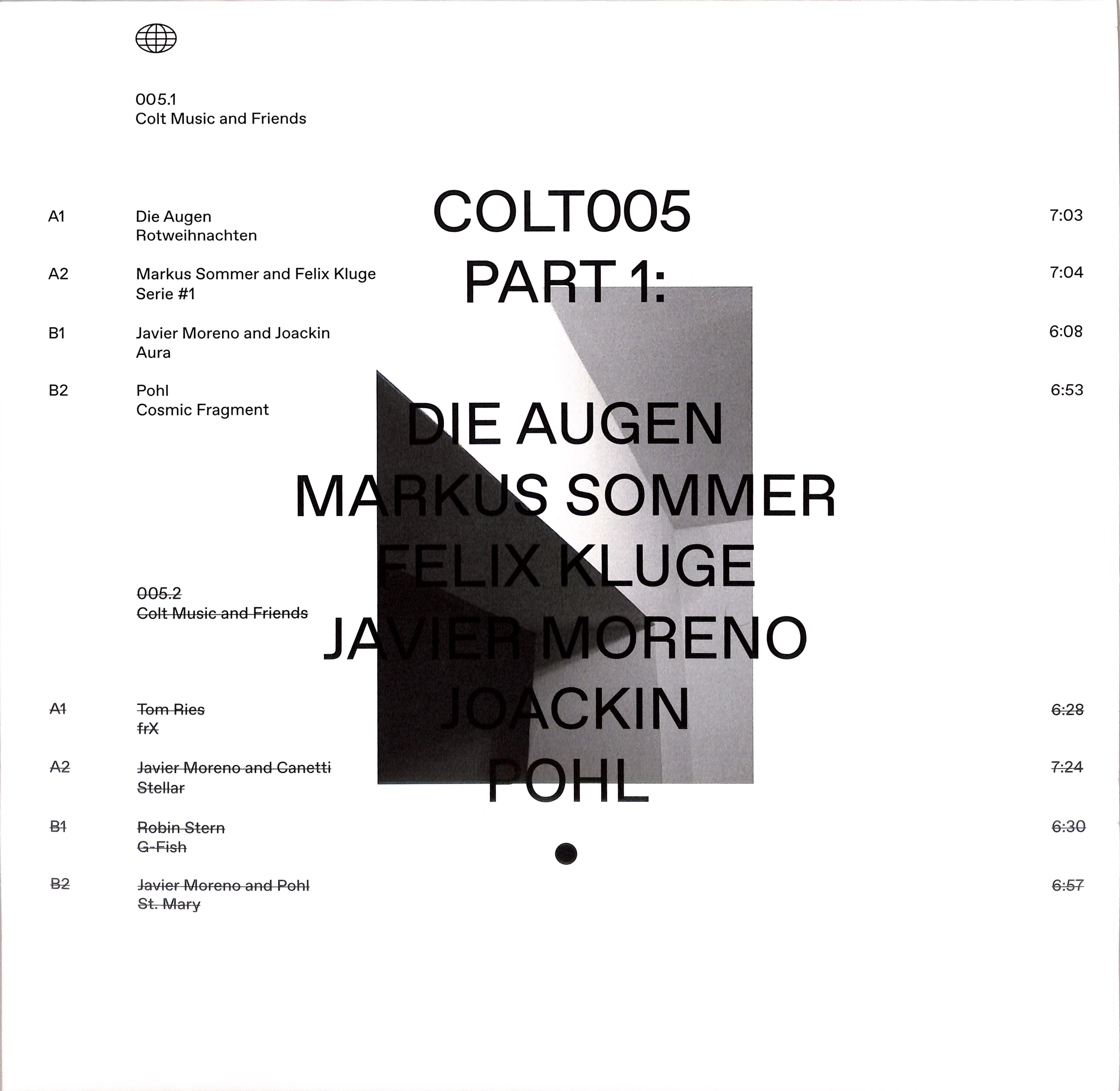 Various Artists - COLT MUSIC AND FRIENDS PART 1 & 2