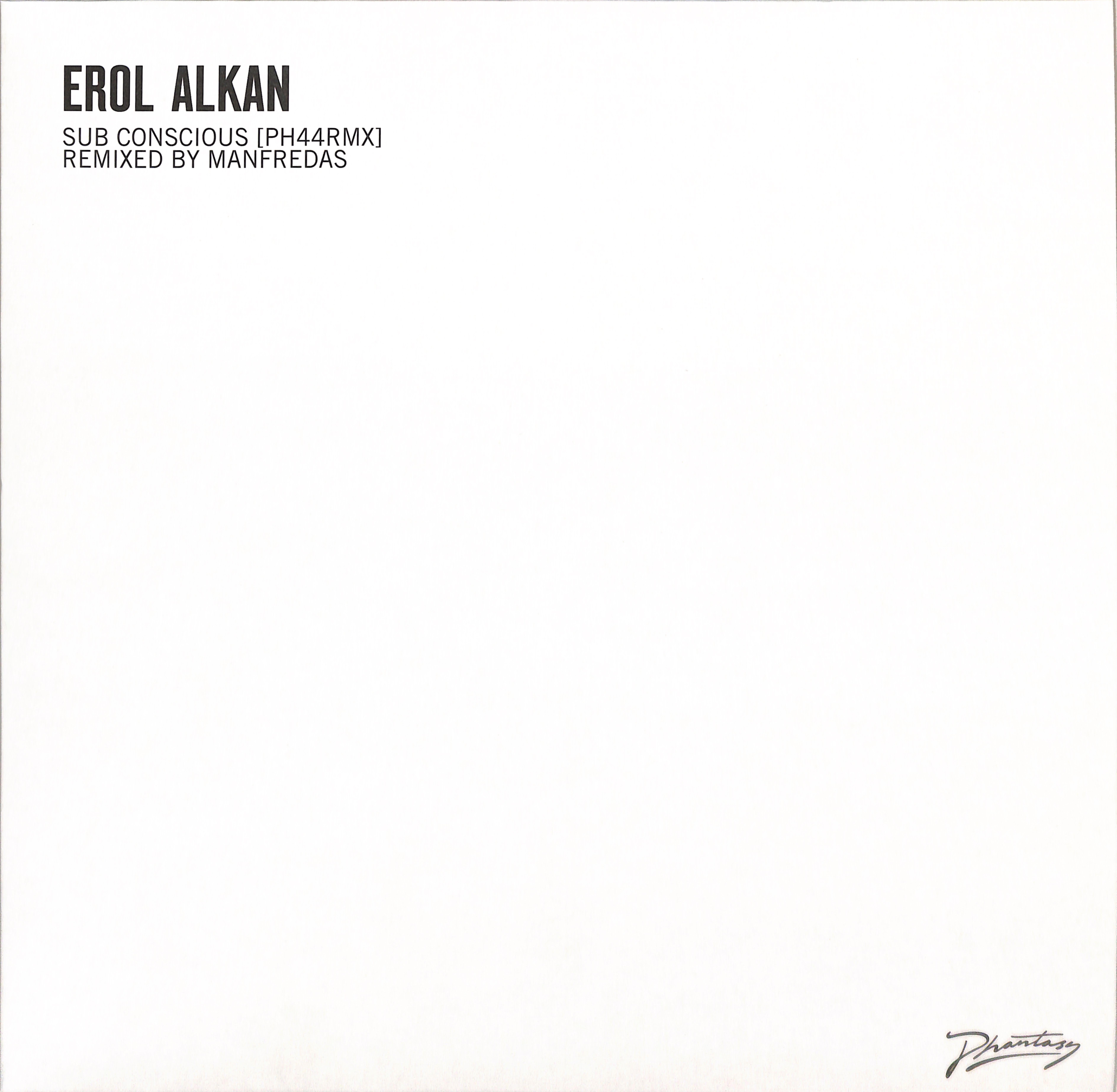 Erol Alkan - SUB CONCIOUS