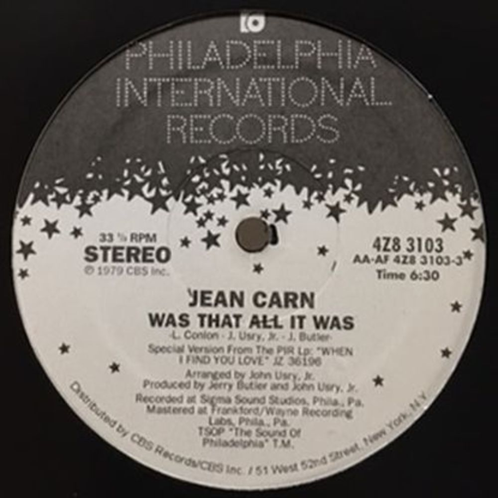 Jean Carn - WAS THAT ALL IT WAS / DONT LET IT GO TO YOUR HEAD