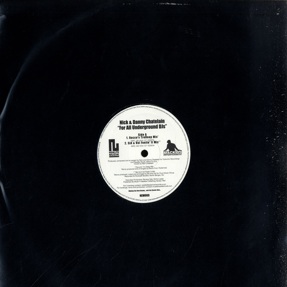 Nick & Danny Chatelain - FOR ALL UNDERGROUND DJS