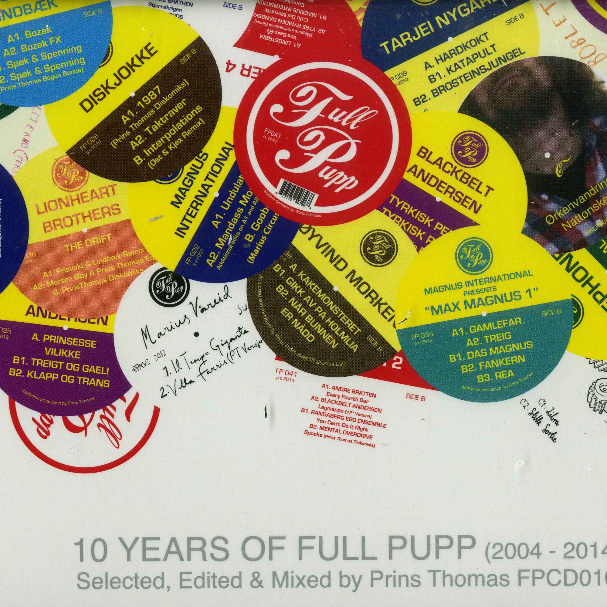 10 Years Of Full Pupp - SELECTED, EDITED, MIXED BY PRINS THOMAS