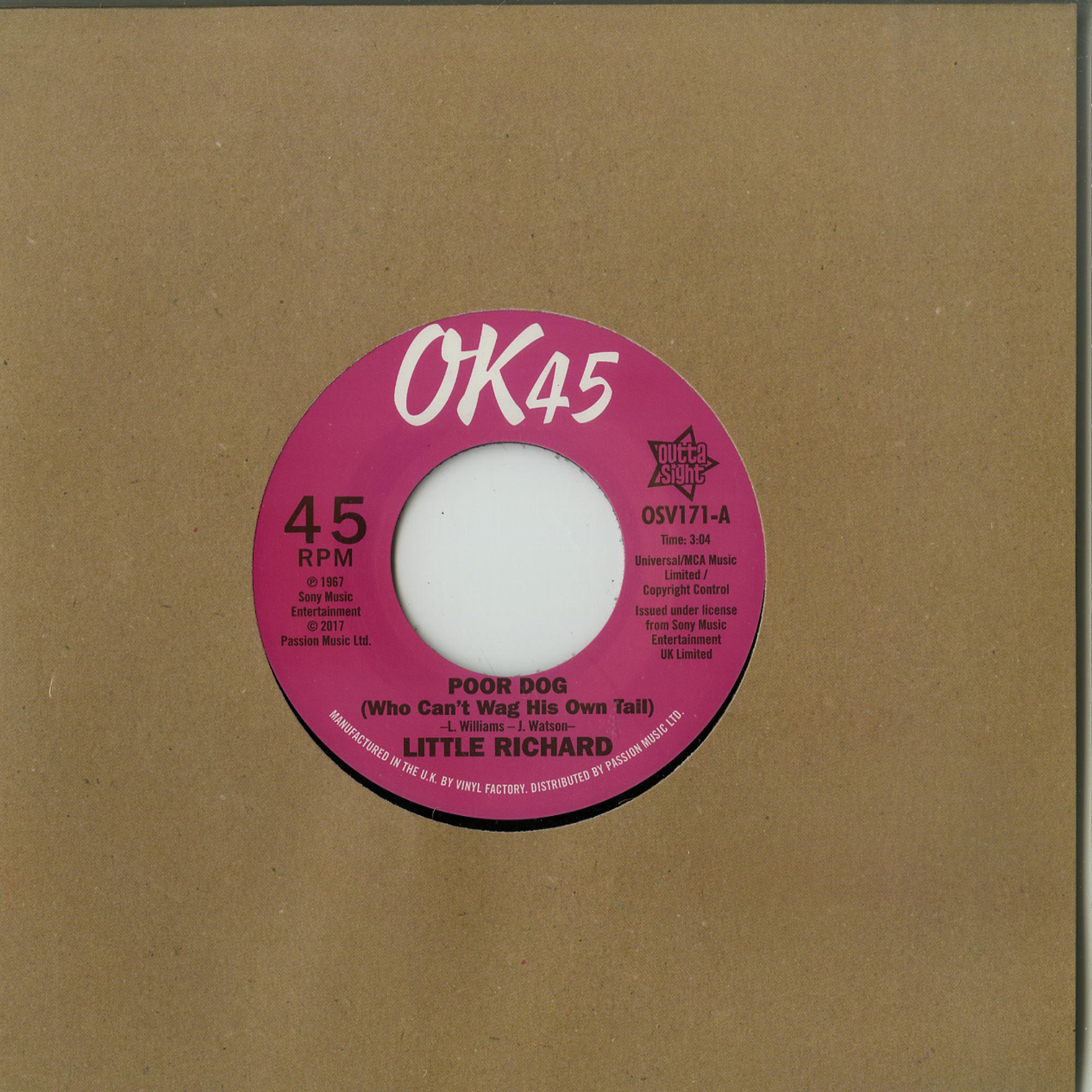 Little Richard - POOR DOG / A LITTLE BIT OF SOMETHING
