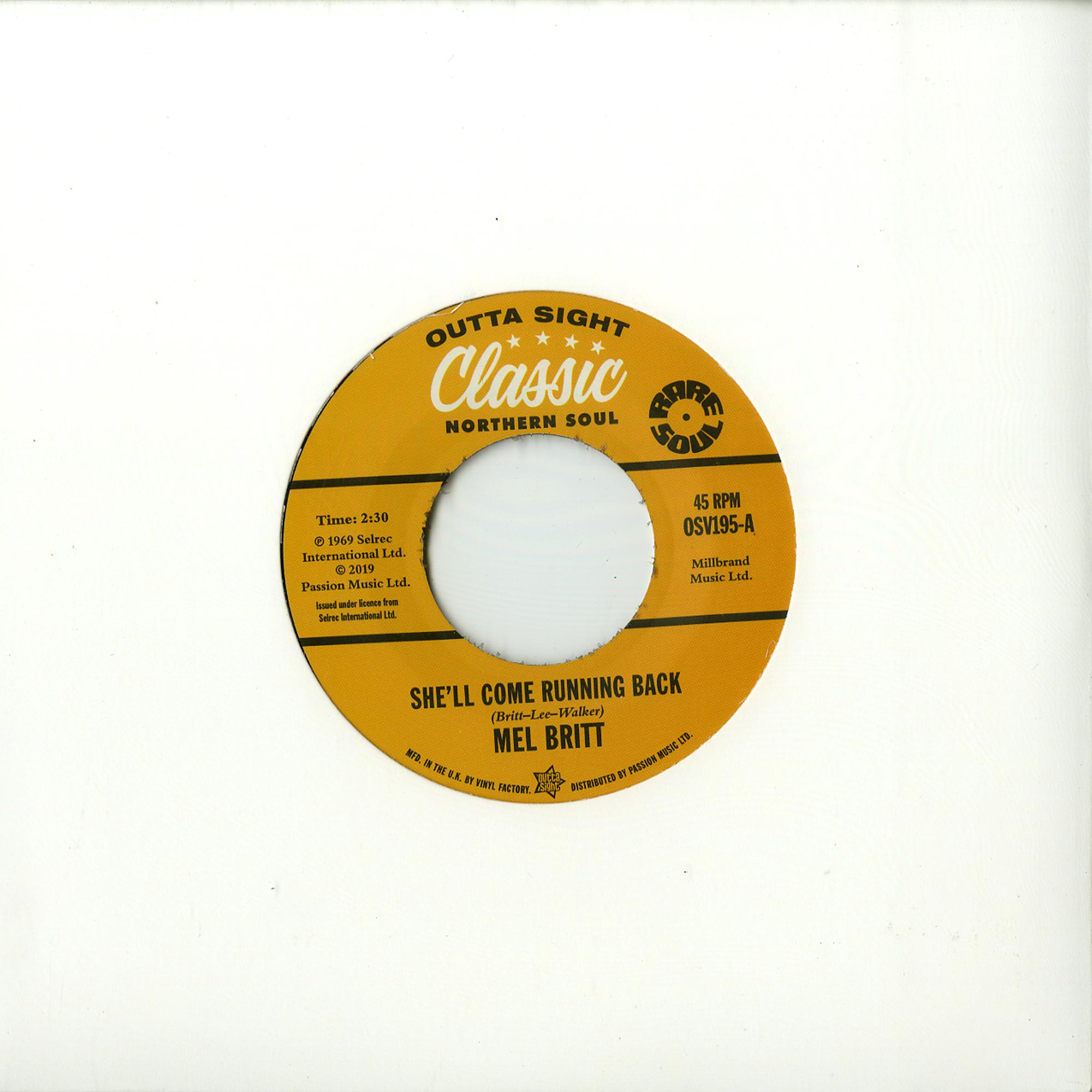 Mel Britt / The Group feat. Cecil Washington - SHE LL COME RUNNING BACK / I DONT LIKE TO LOSE