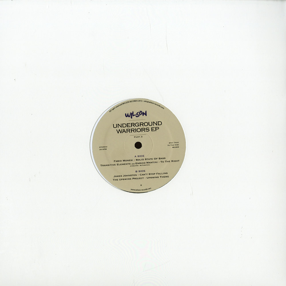 Various Artists - UNDERGROUND WARRIORS EP PART. 3
