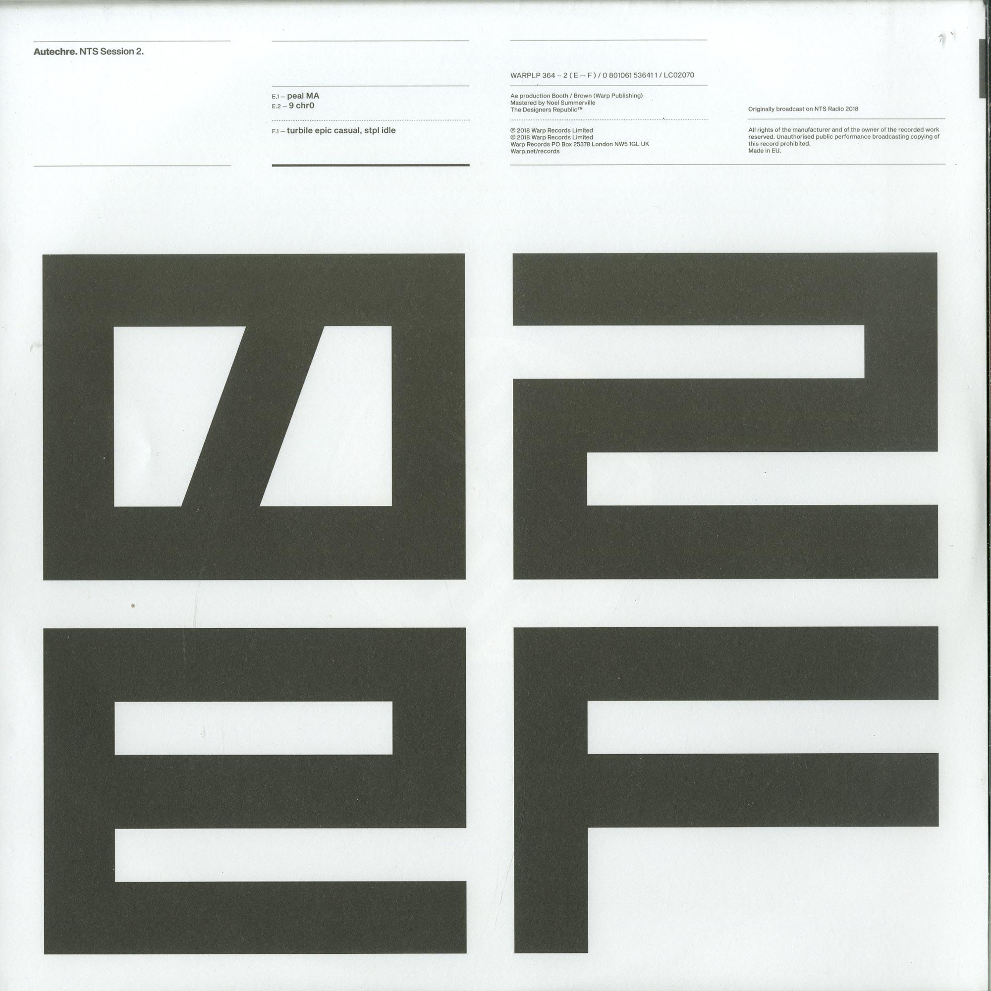 Autechre - NTS SESSIONS 2