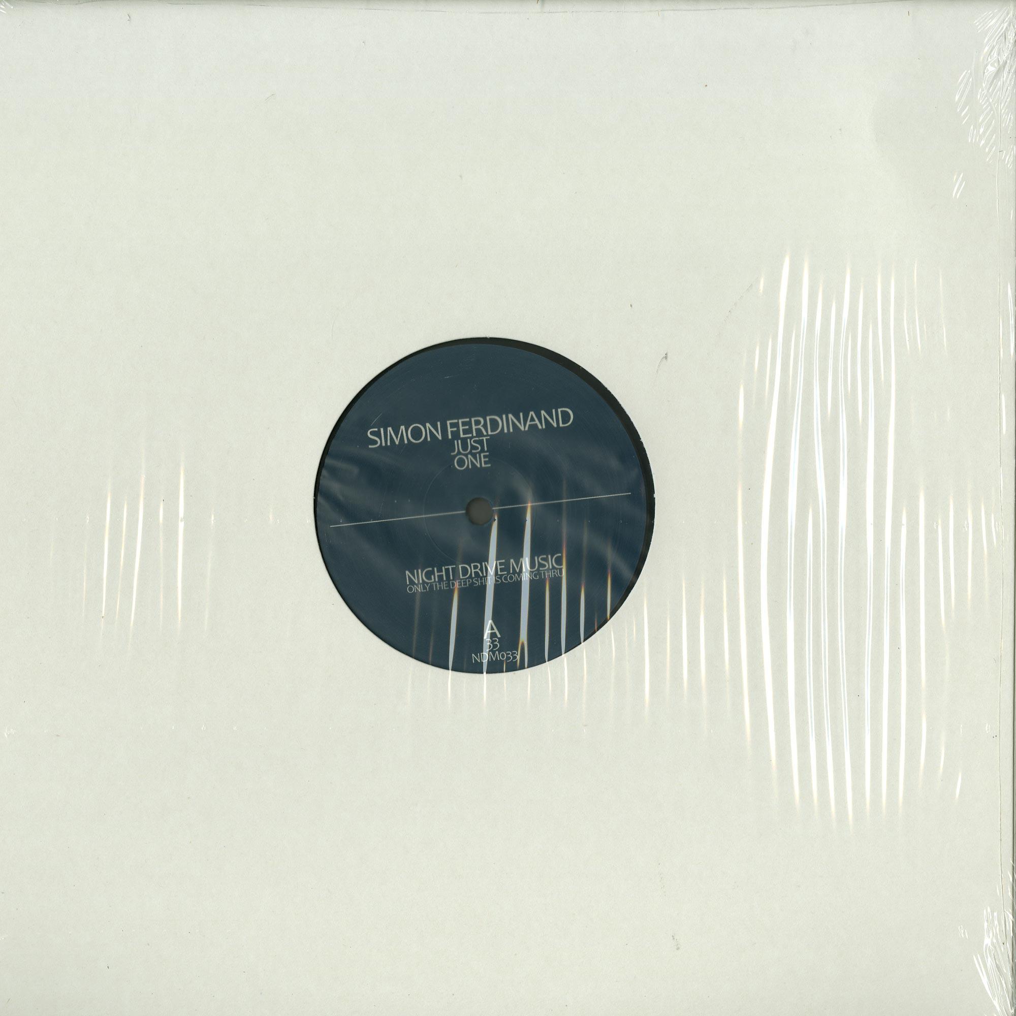 Simon Ferdinand - JUST ONE EP