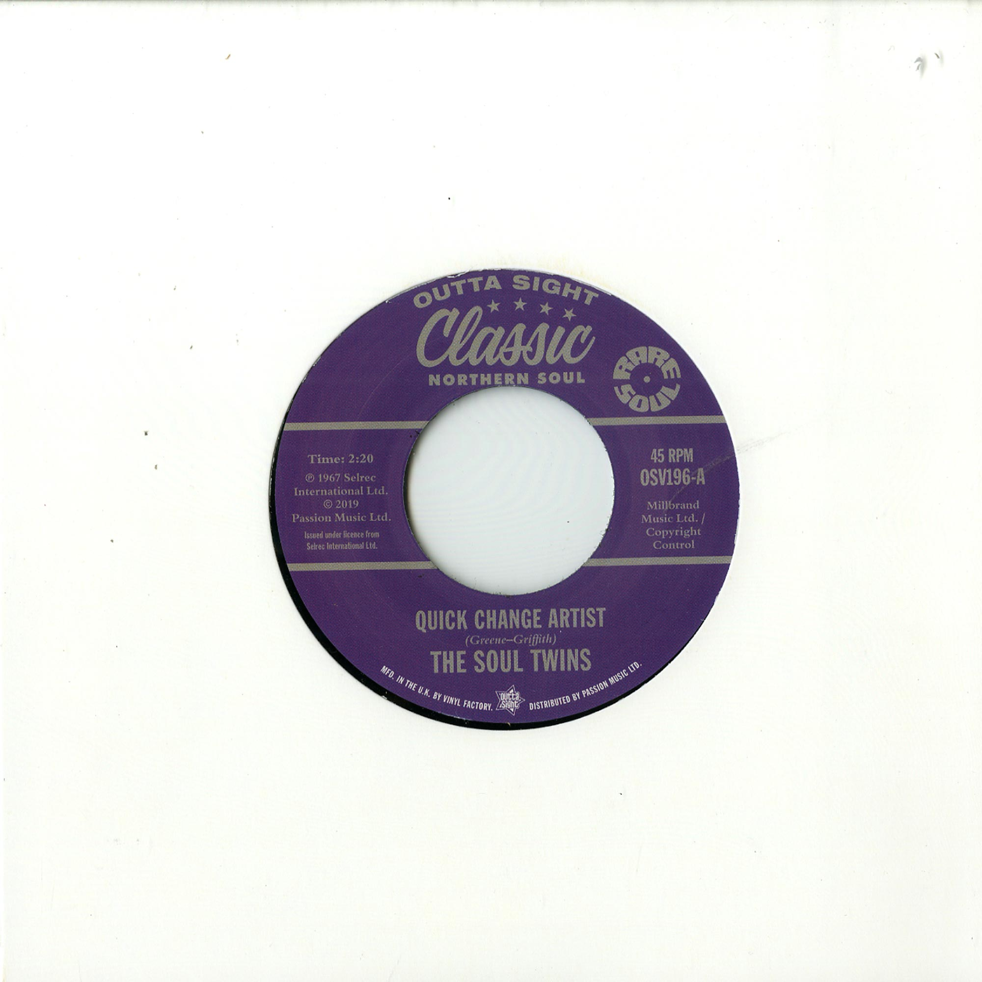 The Soul Twins / N F Porter - QUICK CHANGE ARTIST / KEEP ON KEEPING ON