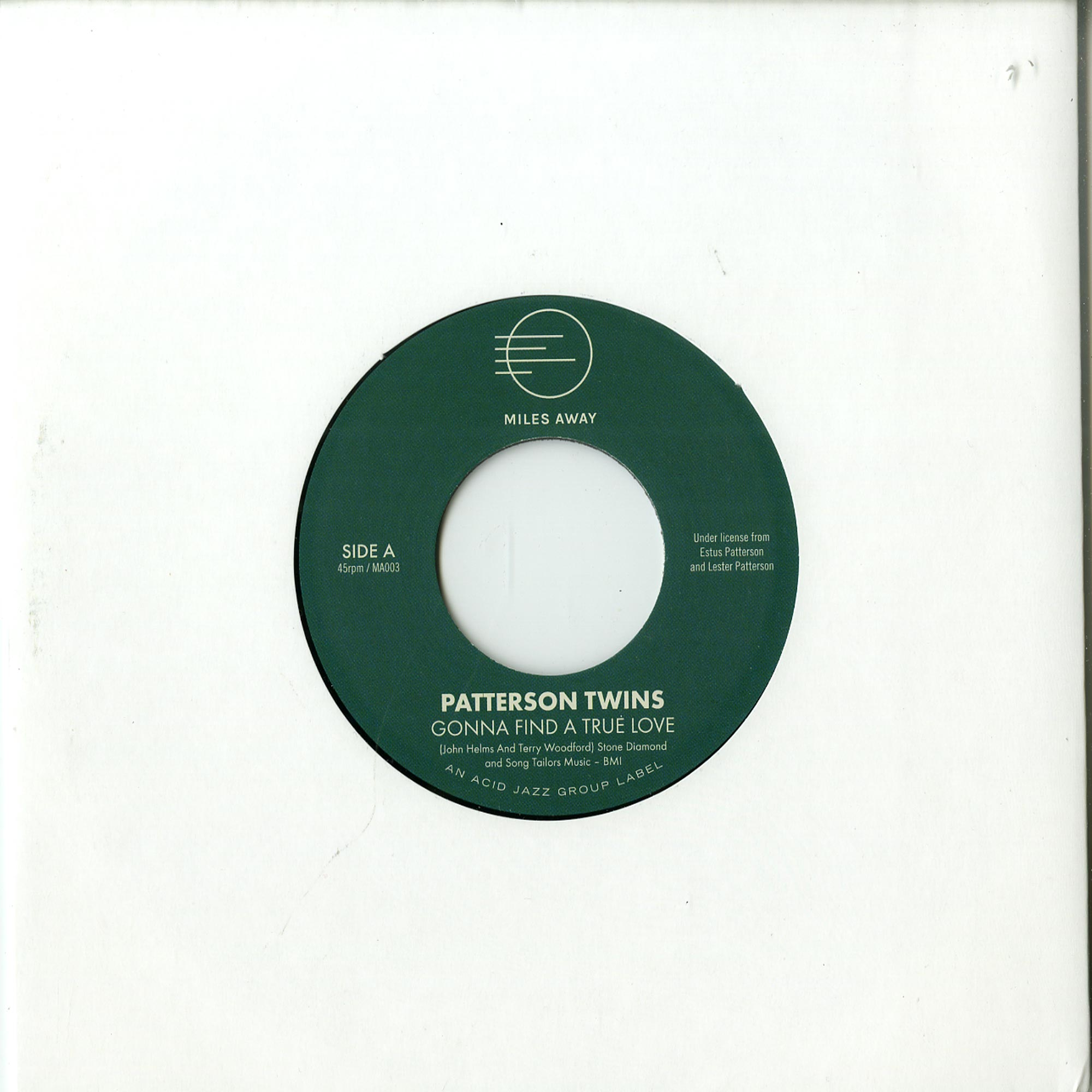 Patterson Twins - GONNA FIND A TRUE LOVE / A GOOD THING