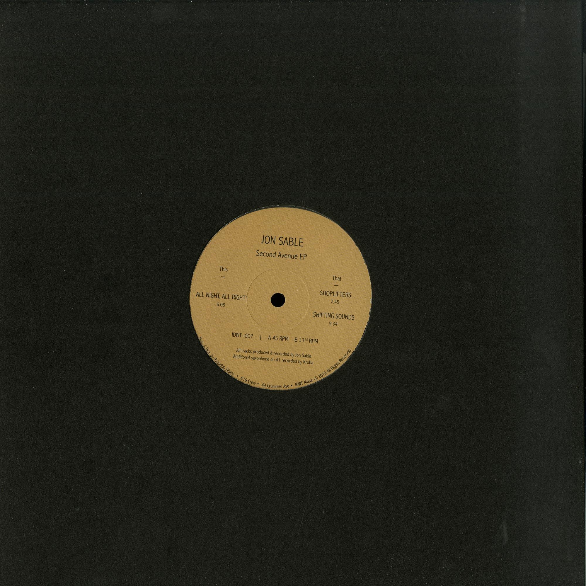 Jon Sable - SECOND AVENUE EP
