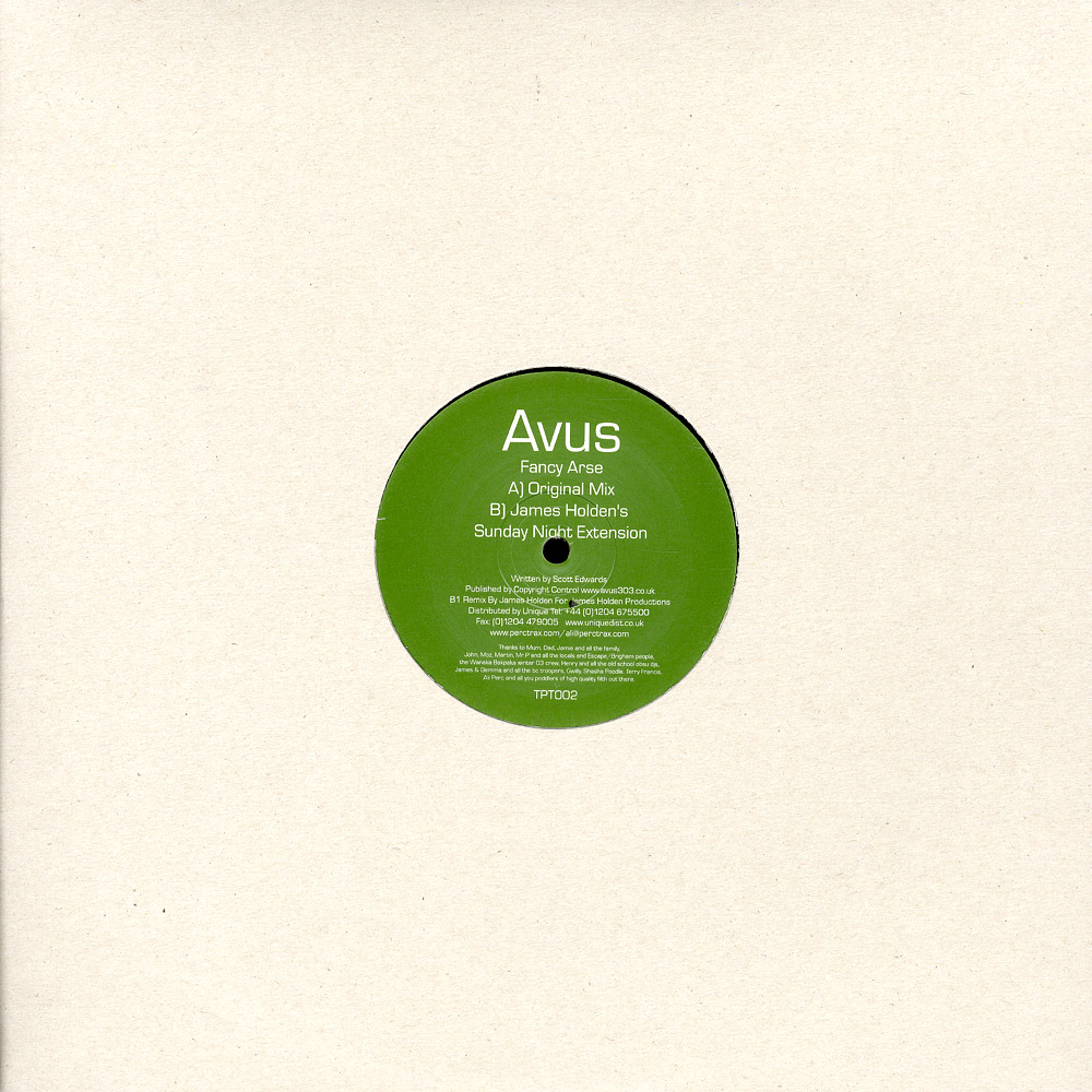 Avus - FANCY ARSE / JAMES HOLDEN RMX