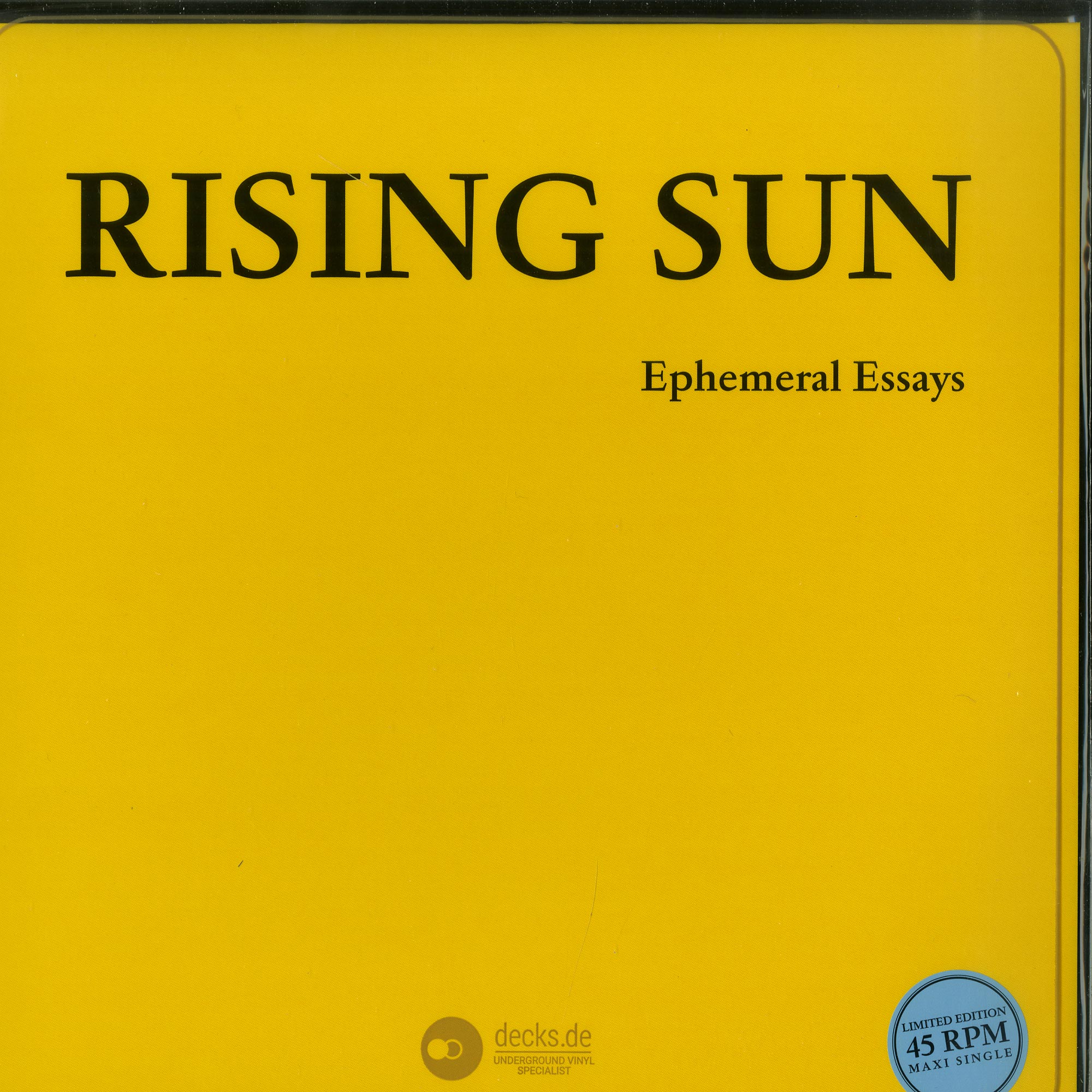 Rising Sun - EPHEMERAL ESSAYS