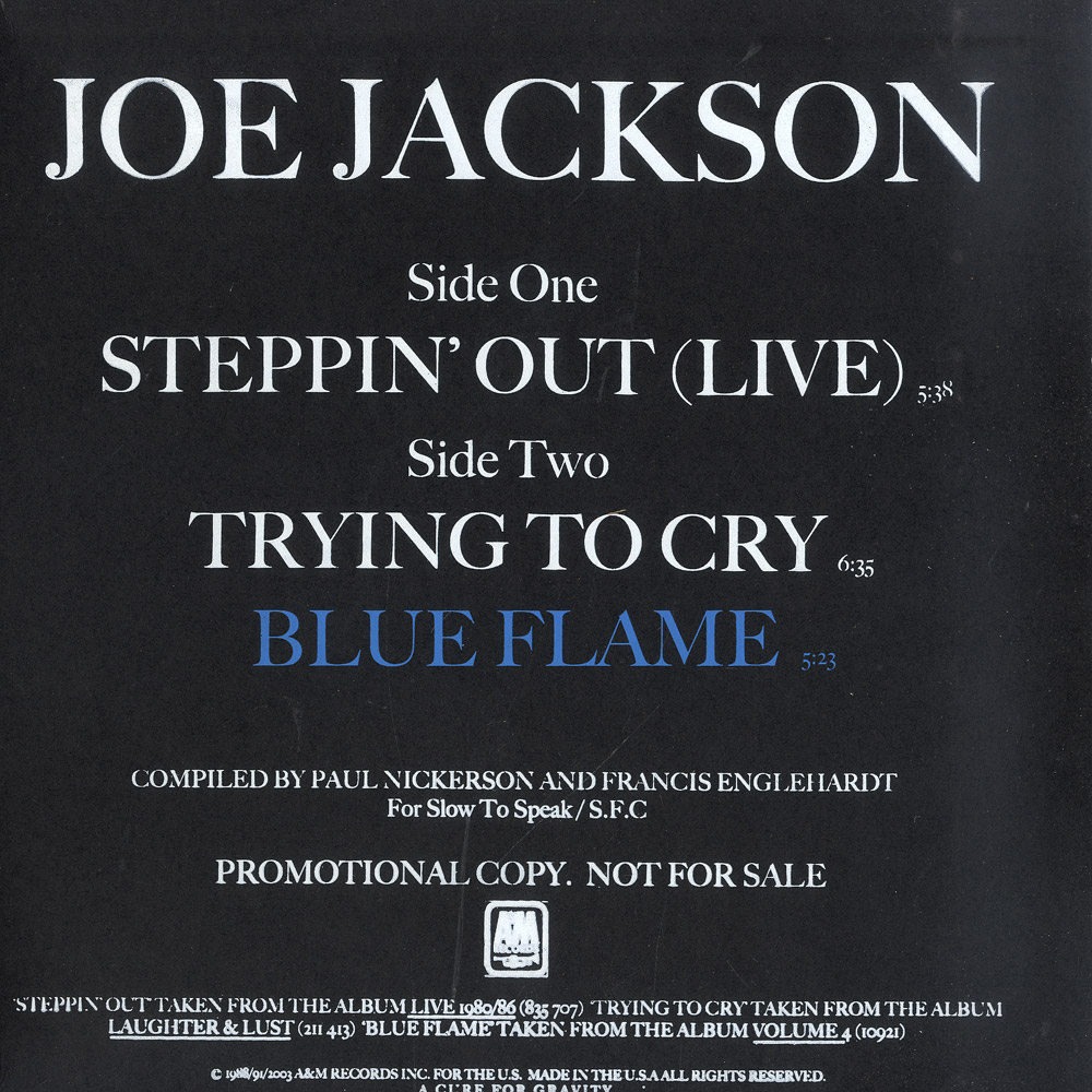 All For Lust 2003 joe jackson - steppin out