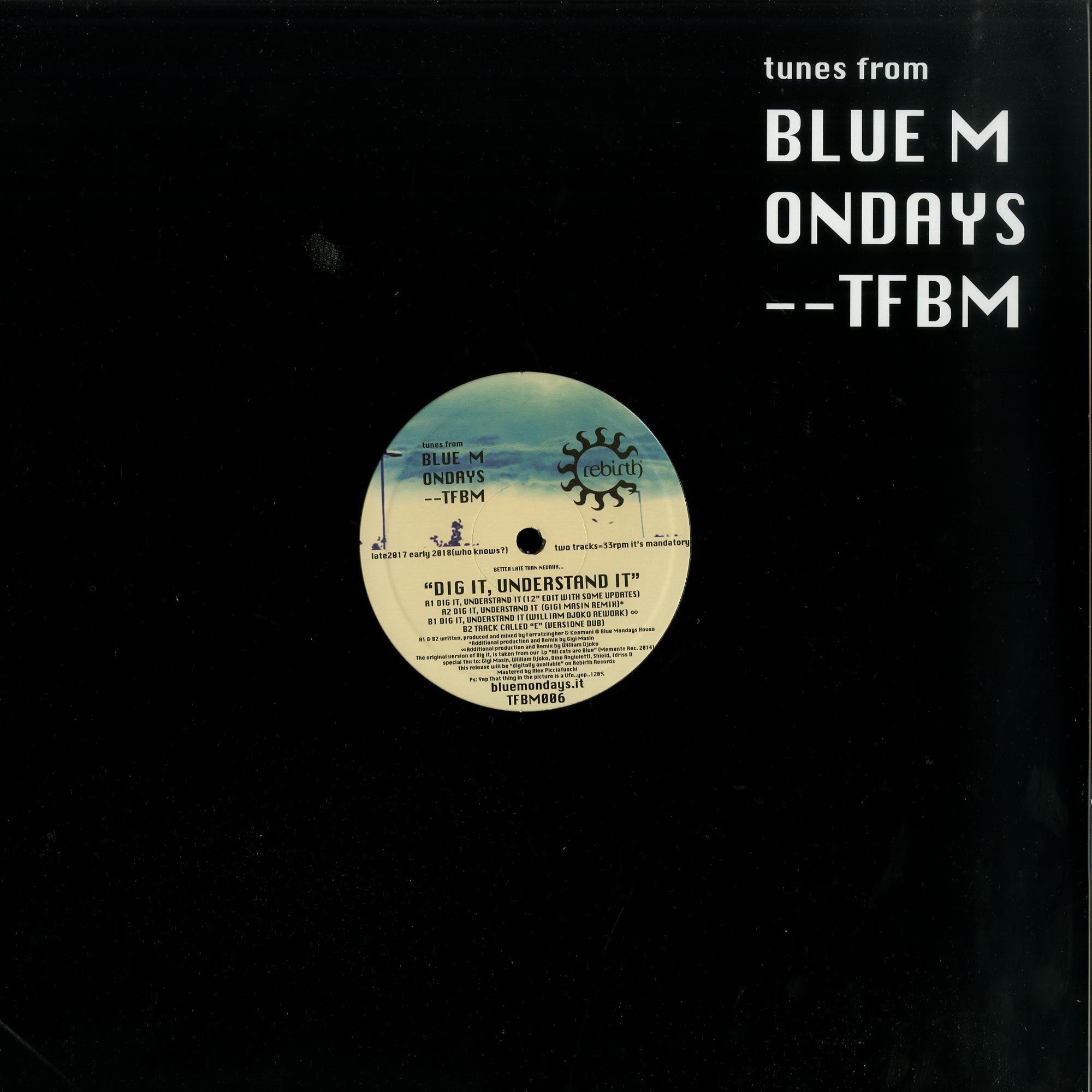 Blue Mondays - DIG IT UNDERSTAND IT