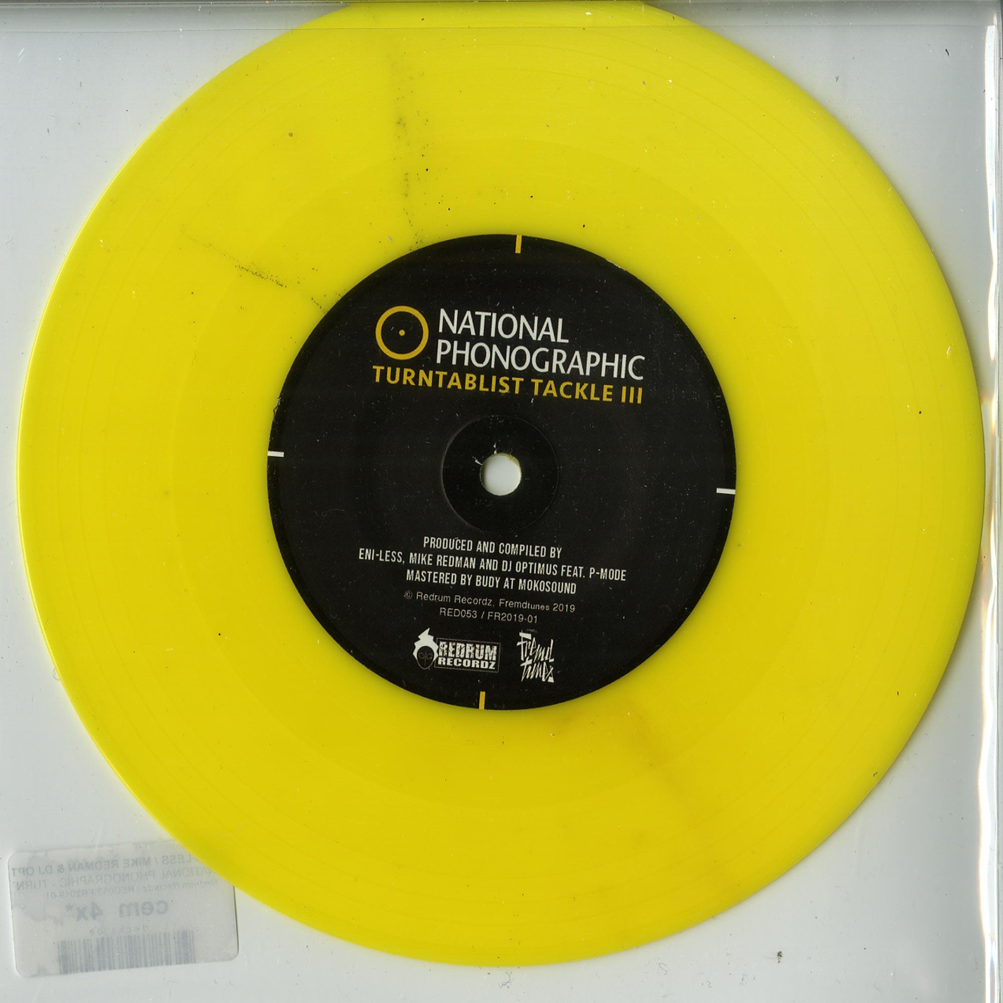 Eni-Less / Mike Redman & DJ Optimus - NATIONAL PHONOGRAPHIC - TURNTABLIST TACKLE 3